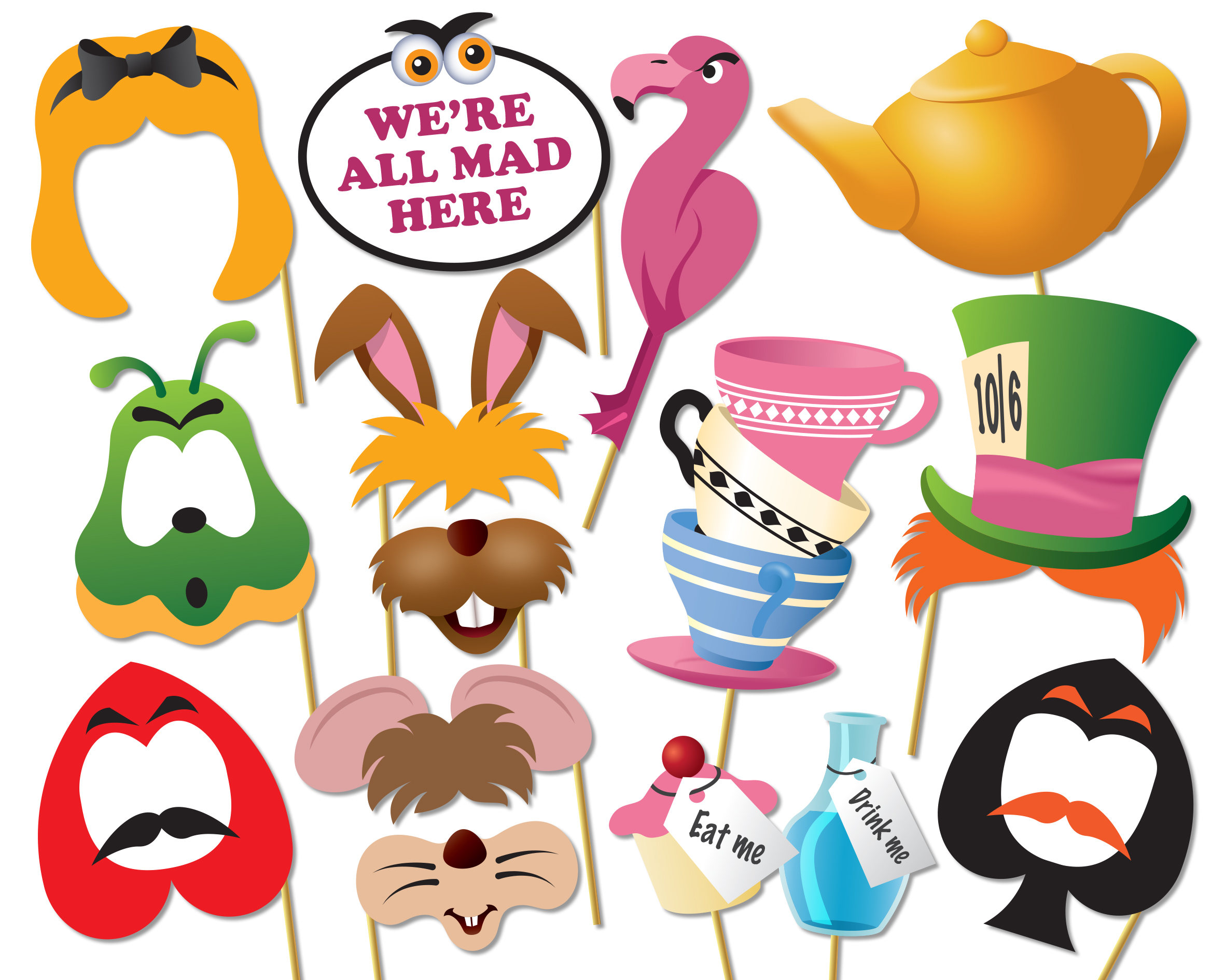 Mad Hatter Tea Party Clipart.