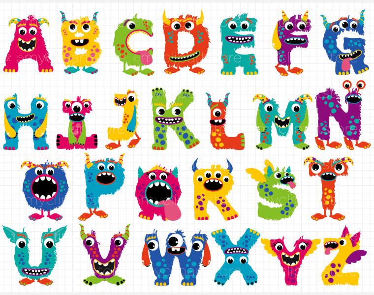 Free alphabet clipart for teachers.