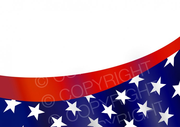 American Flag Border.
