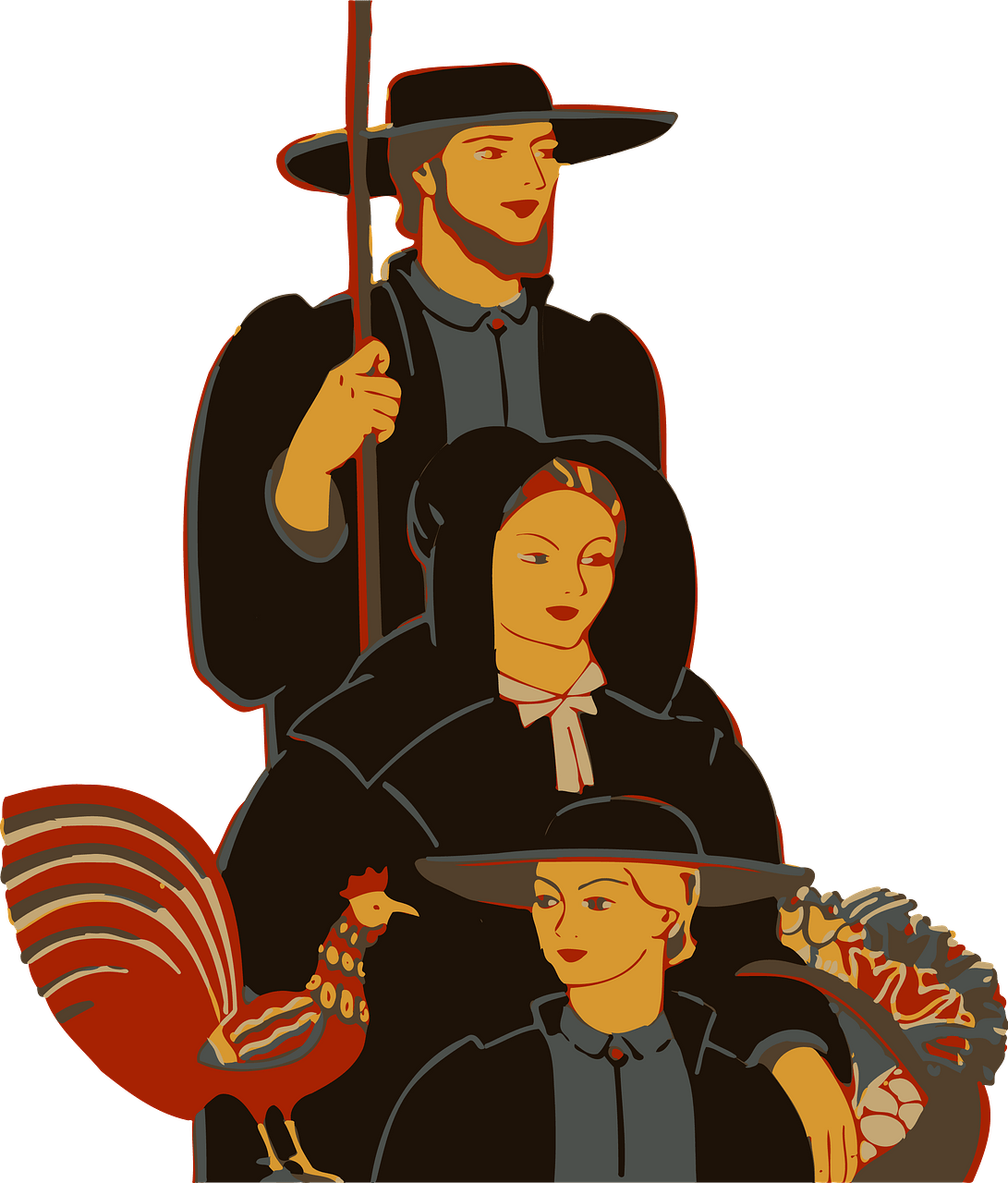 Amish family clipart. Free download..
