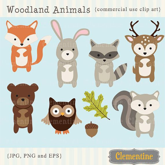 Woodland Animals clip art images, fox clip art, fox vector, royalty.