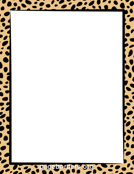Cheetah Print Border: Clip Art, Page Border, and Vector Graphics.