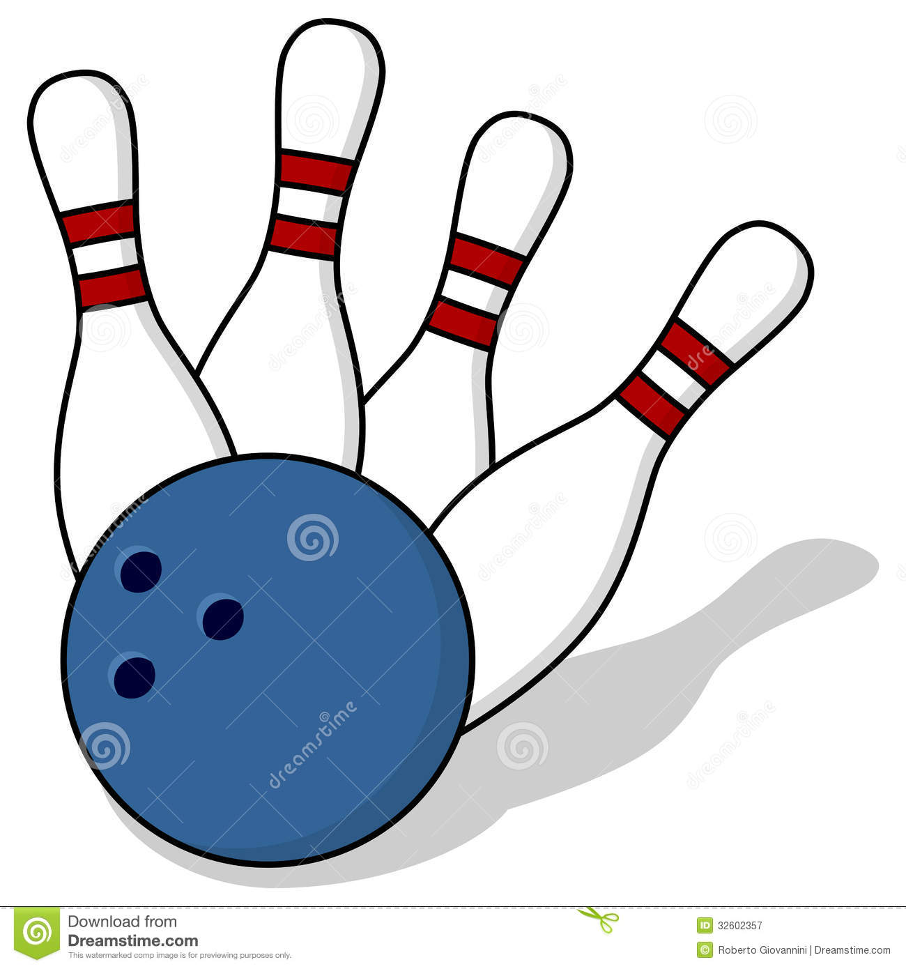 3913 Bowling free clipart.