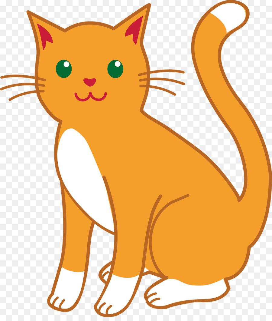 Cartoon Cat png download.