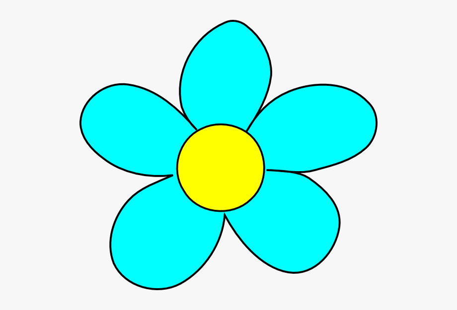 Animated Blue Flowers Flower Clipart.