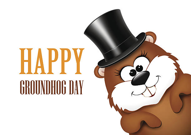 Best Groundhog Day Illustrations, Royalty.