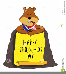 Groundhogs Day Clipart.