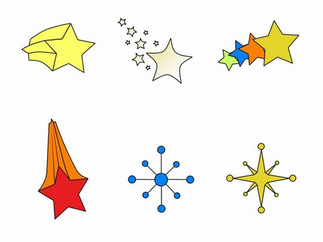 More free Star Clip Art.