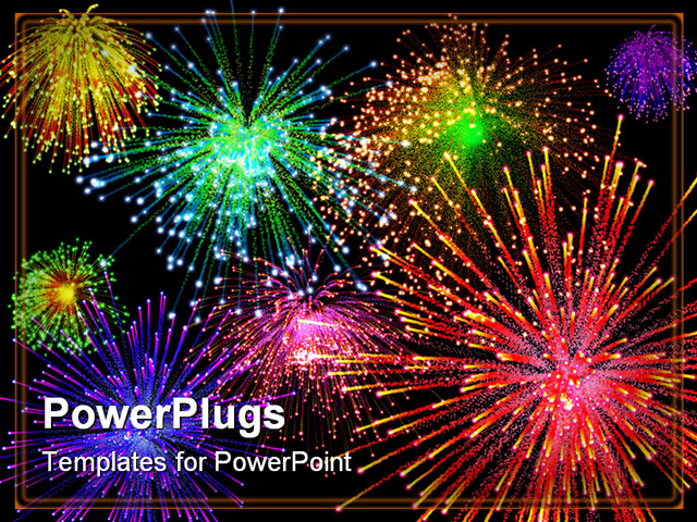 4032 Fireworks free clipart.