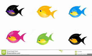 Animated Swimming Fish Clipart.
