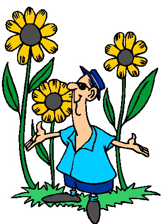 Free animated gardening clipart.