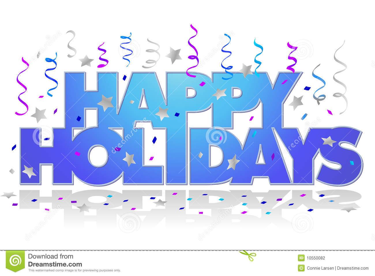 Free Happy Holidays Clipart.