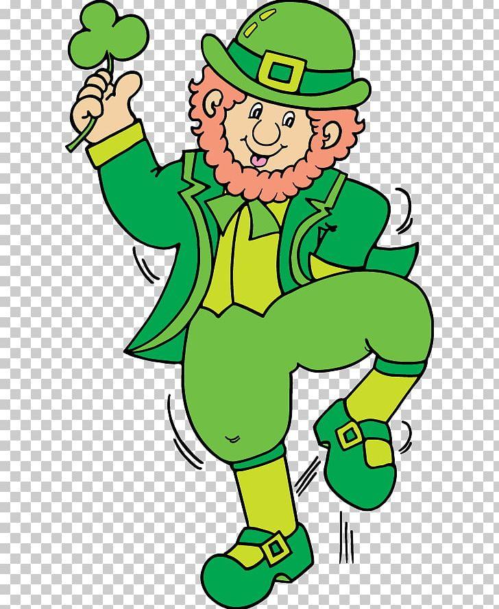 Leprechaun Saint Patrick's Day PNG, Clipart, Animation, Area, Art.