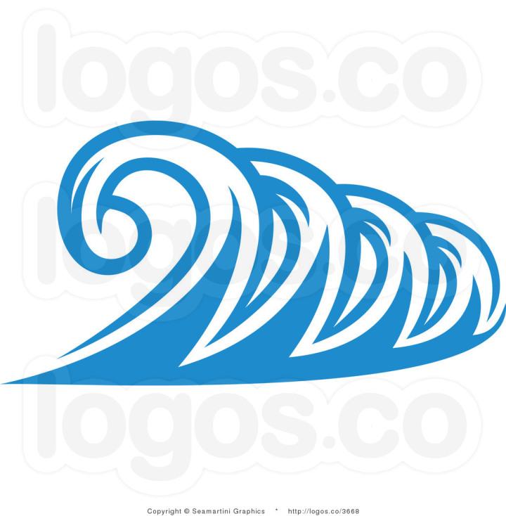 Animated Ocean Waves Clip Art Animals Black free image.