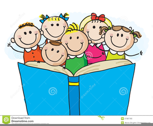 1540 Children Reading free clipart.