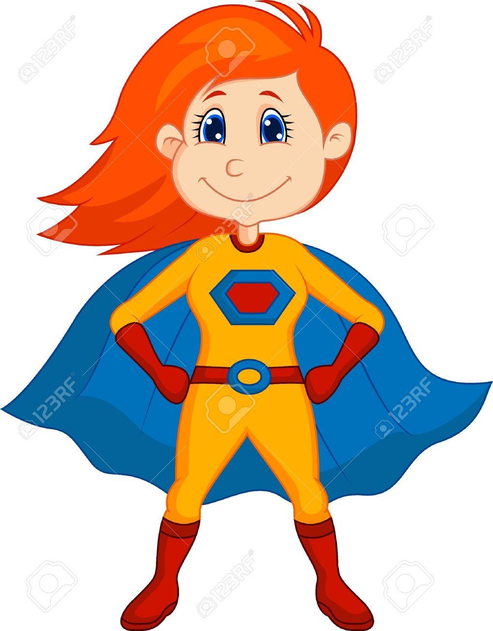 free animated superhero clipart