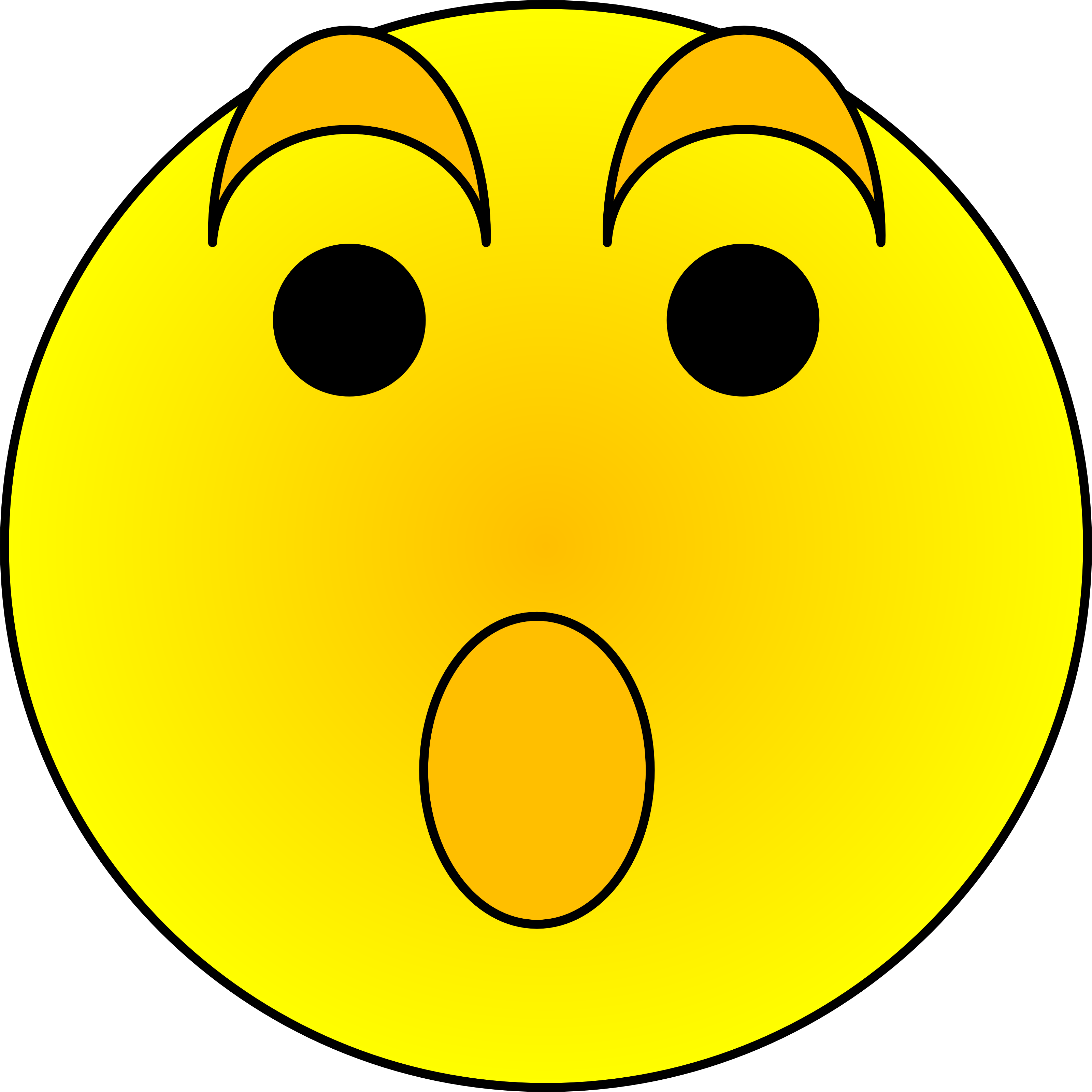 Showing post & media for Cartoon surprised face clip art.