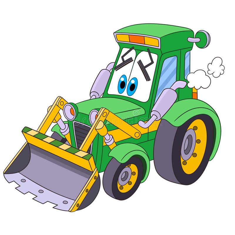 Cartoon Tractor Stock Illustrations.