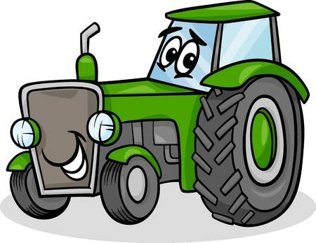 5,372 Cartoon Tractor Stock Vector Illustration And Royalty Free.