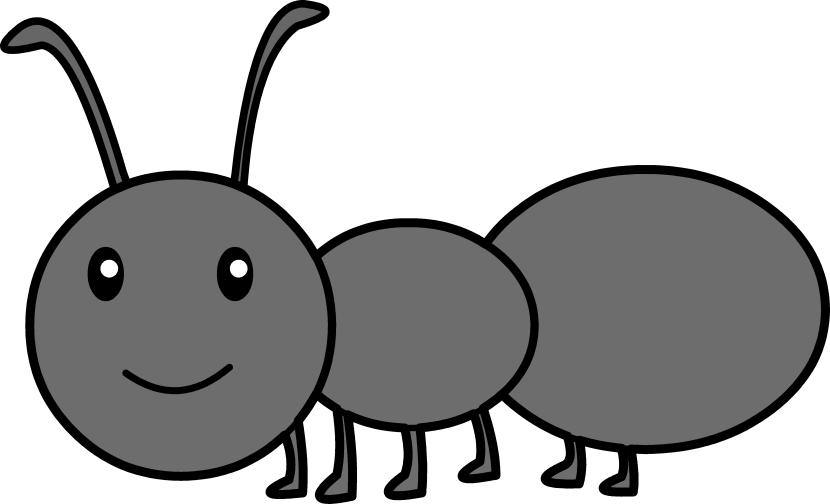 Ant Clipart Black And White.