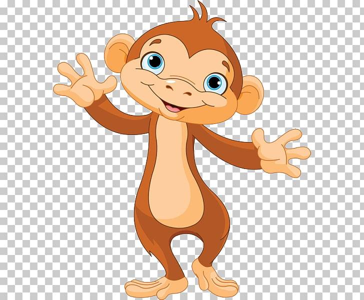Ape Gorilla , Cute monkey PNG clipart.