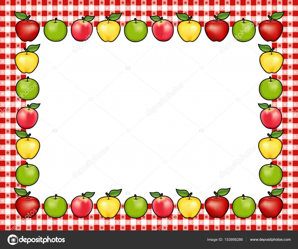 Apple Clipart Border.