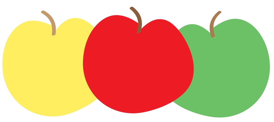 Free Apple Clipart and printables for art projects, teachers.