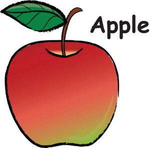 Honey Crisp Apple Clipart.