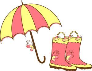 Free April Showers Clip Art Images.