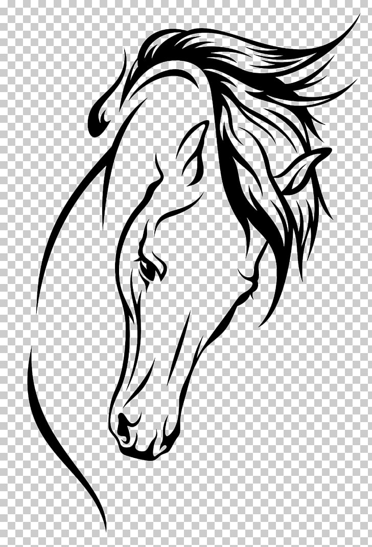 Arabian horse Drawing Silhouette , horsehead PNG clipart.