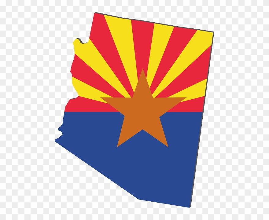 Arizona State Flag Clip Art Free.