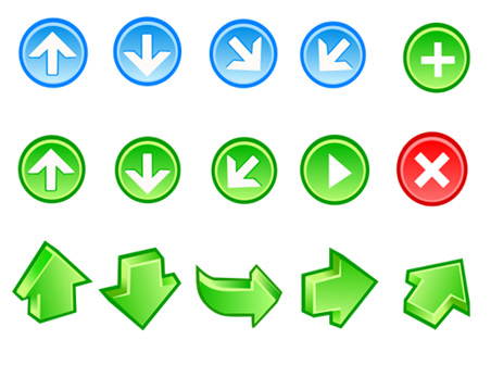 Free Vector Arrow Icons Clipart Graphic.