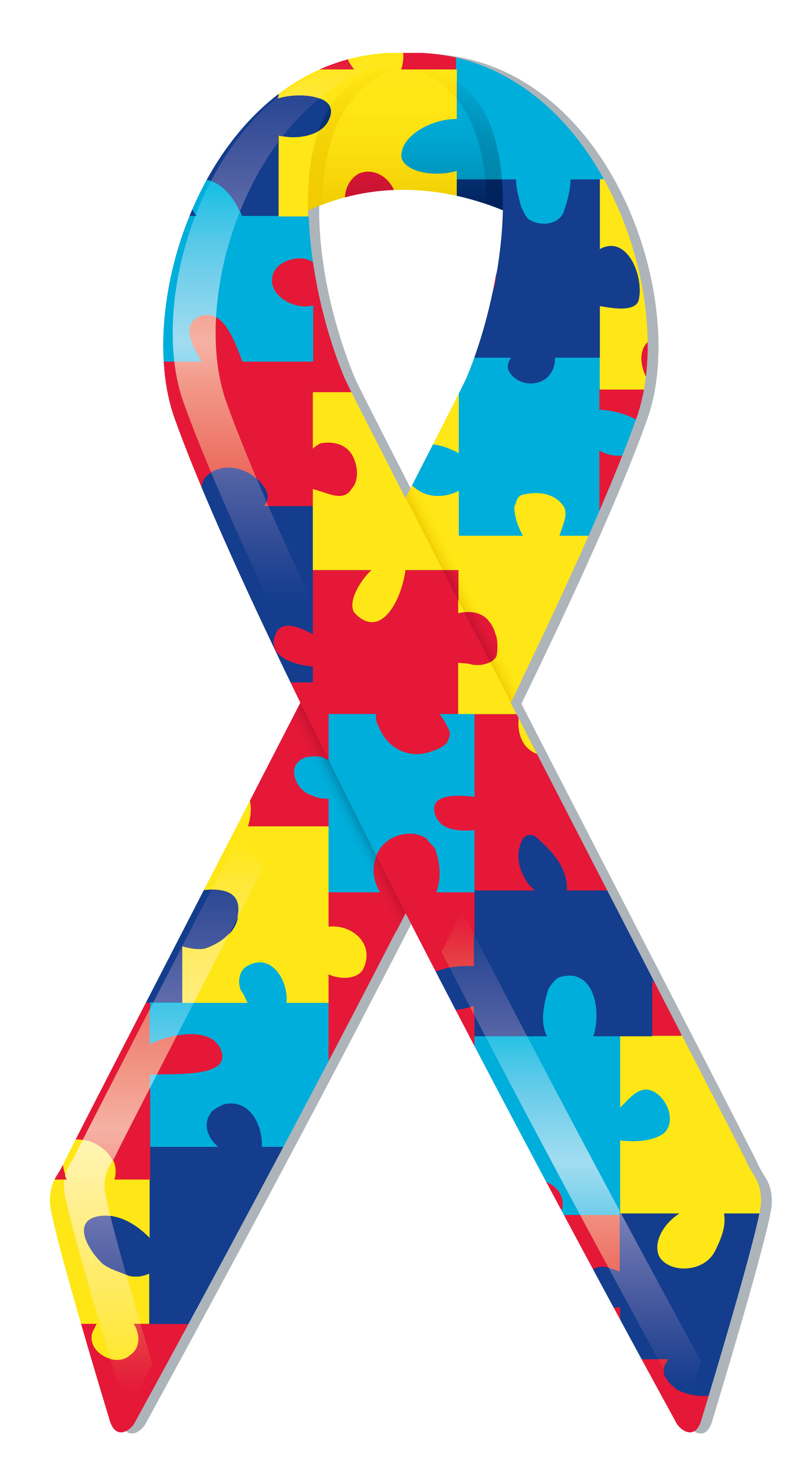 Autism Awareness Ribbon Clip Art free image.