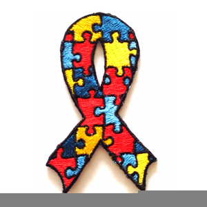 Autism Awareness Ribbon Clipart.