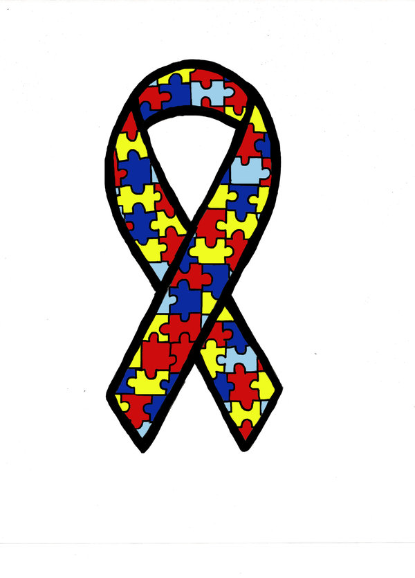 Free autism awareness ribbon clip art Transparent pictures.
