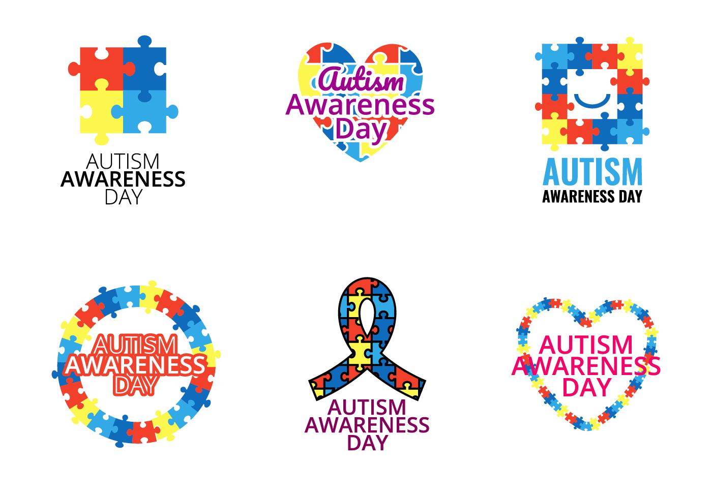 Autism Awareness Free Vector Art.