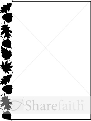 Fall Leaves Clipart Black And White Border.