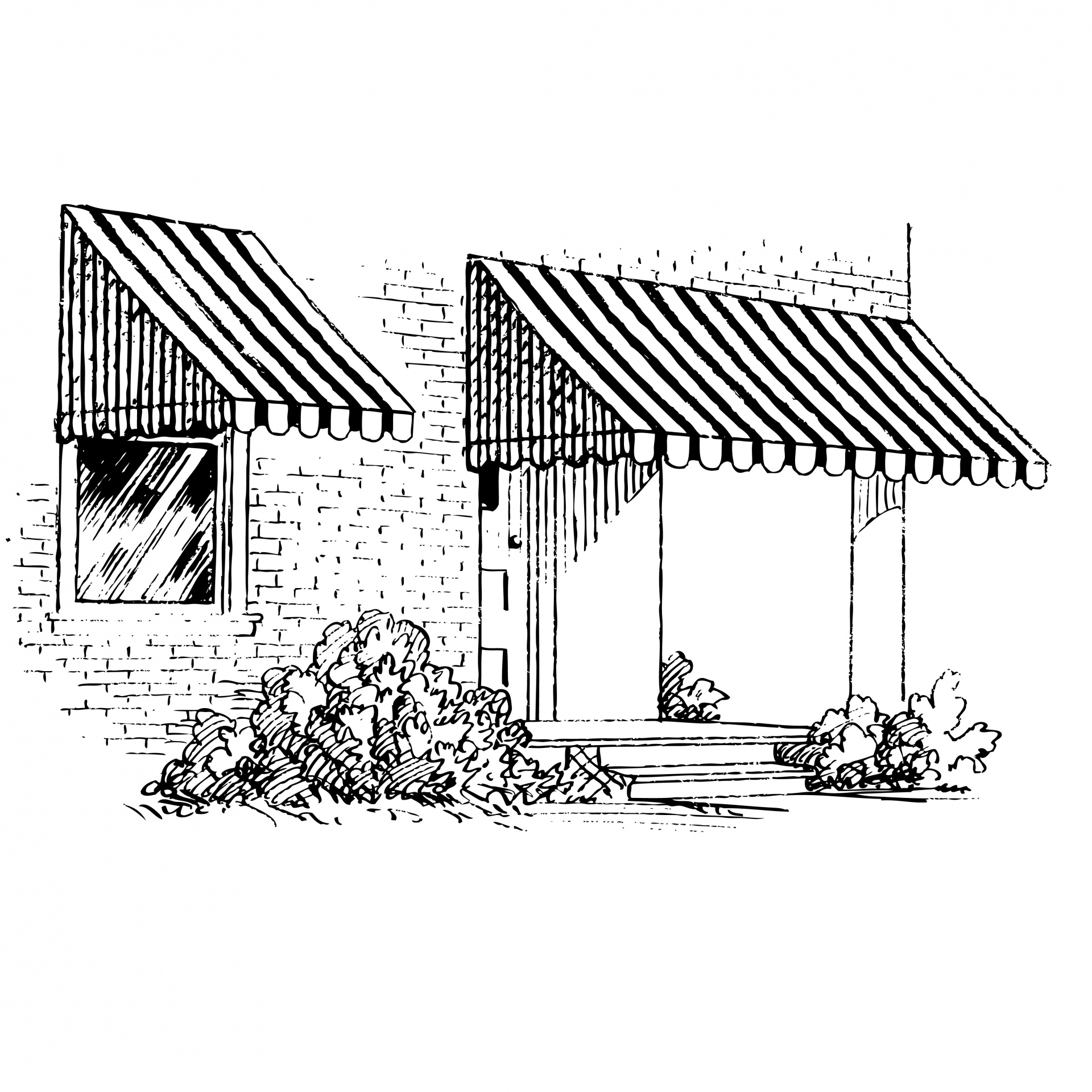 Awning Clipart Illustration Free Stock Photo.