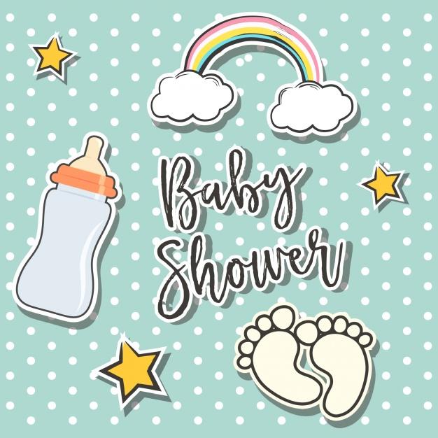 Baby shower background design Vector.
