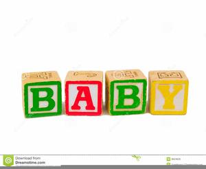 Baby Alphabet Blocks Clipart.