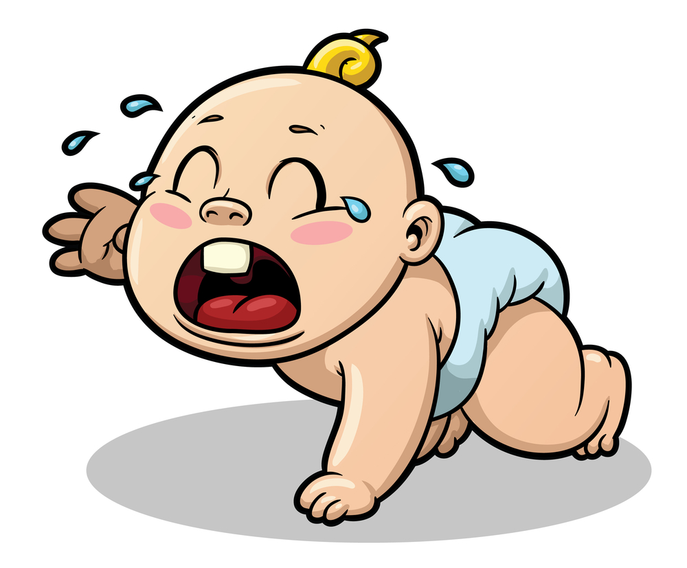 Crying Baby Cartoon Clipart.
