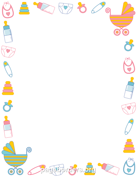 DIRECTLY FROM SITE>> Baby Shower Border.