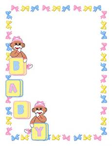 free baby clipart borders and frames #18