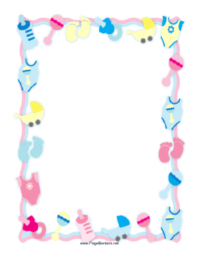 Free Baby Blue Polka Digi Scrapbook Frame with White Border.