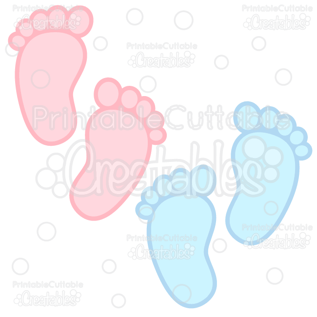 Library of free baby foot print banner library download png.