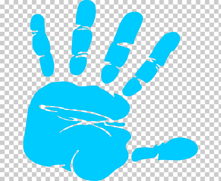 Hand Free content Printing , Free Baby Handprint, blue hand.