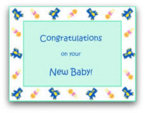 Free Baby Clipart To Print Out For Cards.