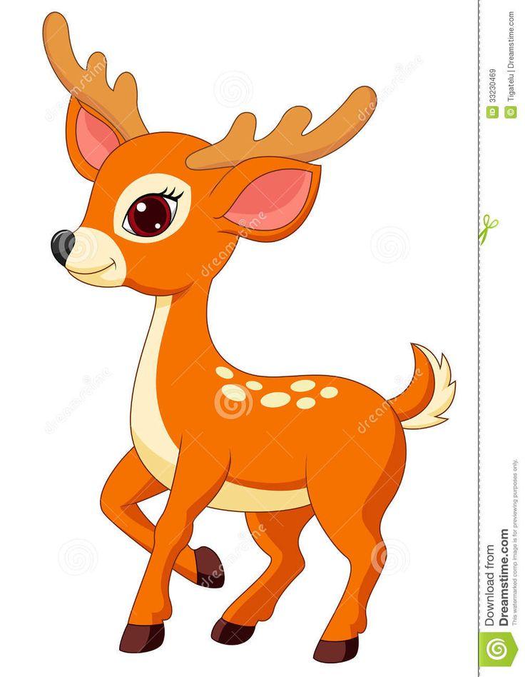Showing post & media for Cartoon deer clip art free.