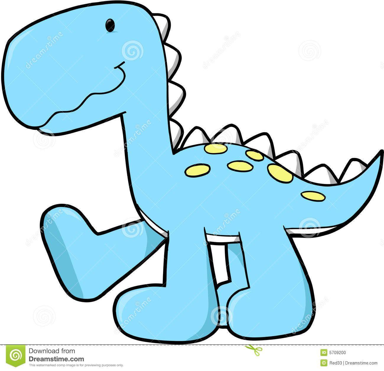 Cute Dinosaur Free Clipart.