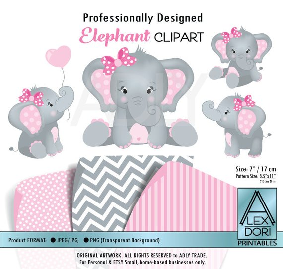 Download Free png Girl Elephant shower baby elephant elephants clip.